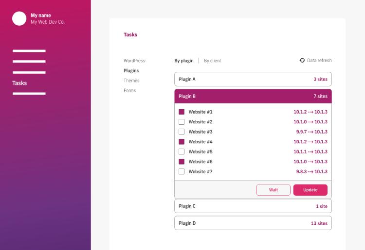 business process examples, screenshot of glow app plugin updates